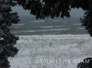 Lake Michigan webcam, older picture